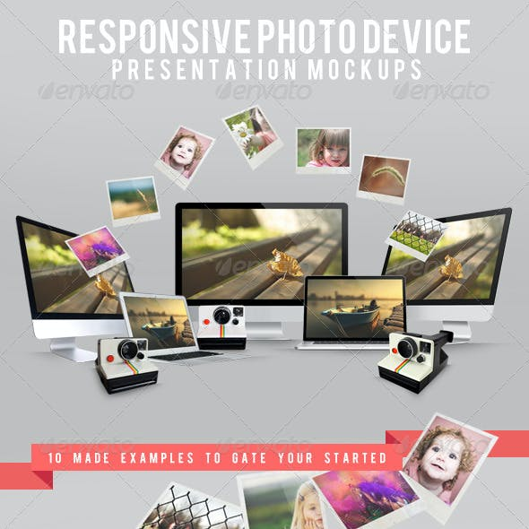 Responsive Photo Device Presentation Mockups