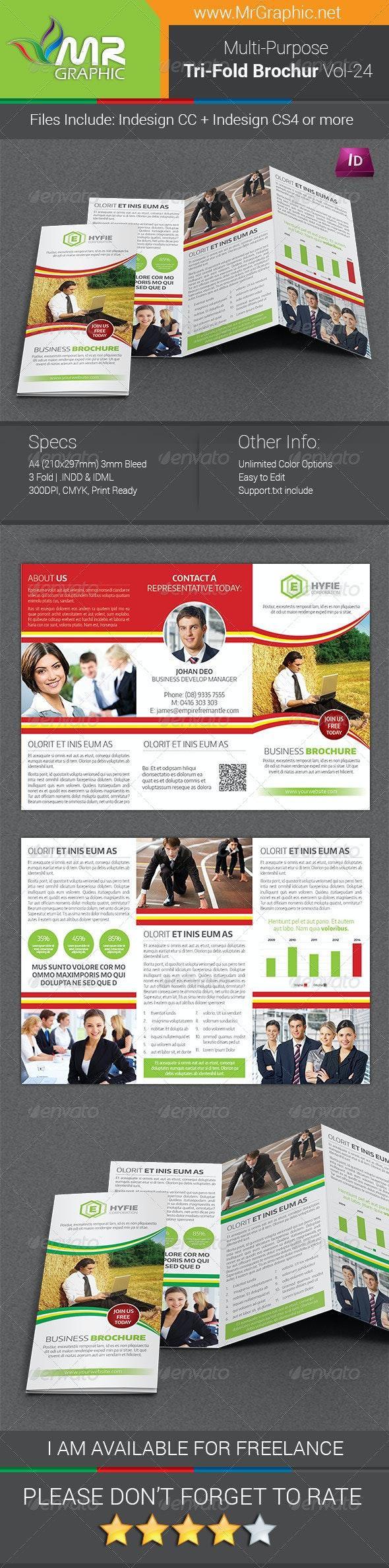 Multipurpose Business Tri-Fold Brochure Vol-24 - Corporate Brochures