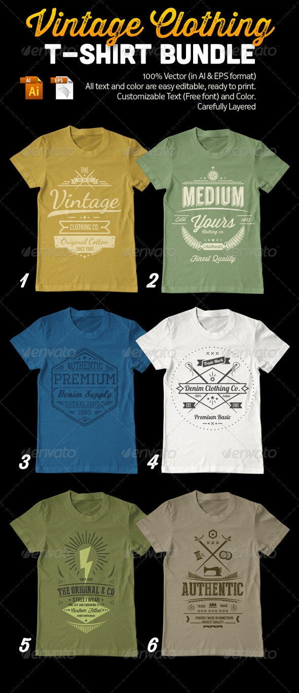 Vintage Clothing T-Shirt Bundle