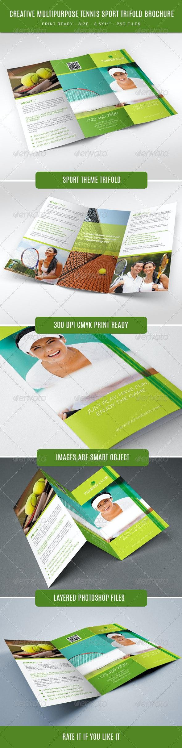 Tennis Club Trifold Brochure - Brochures Print Templates