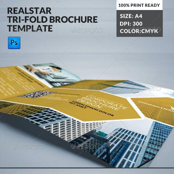 Ralstar Real State Tri-fold Brochure Template