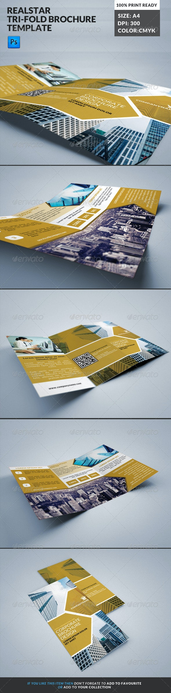 Ralstar Real State Tri-fold Brochure Template - Corporate Brochures