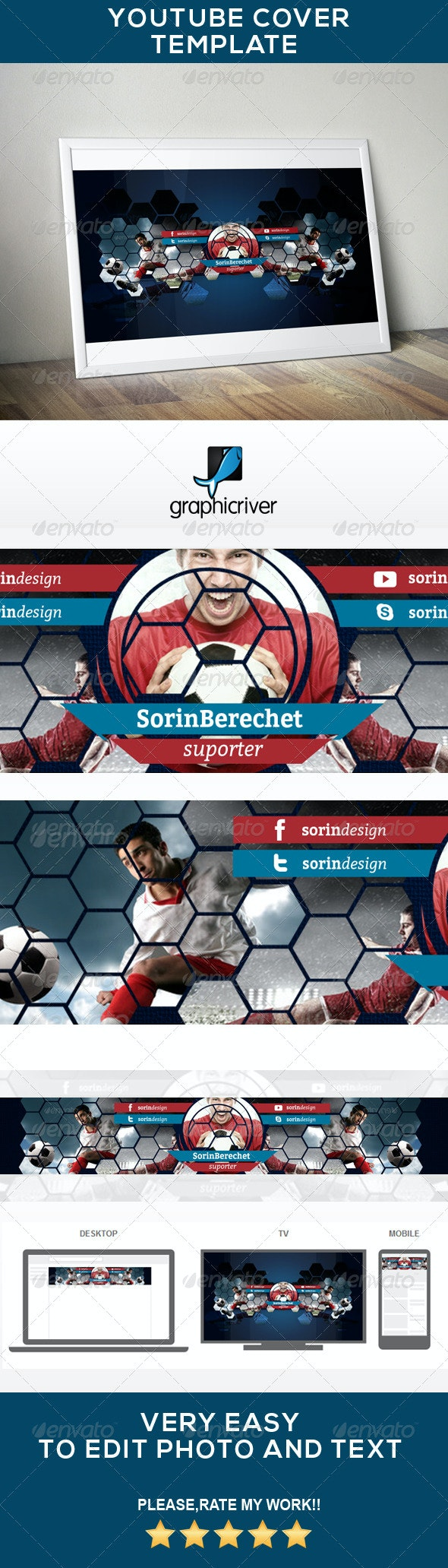 Youtube Soccer Banner - YouTube Social Media