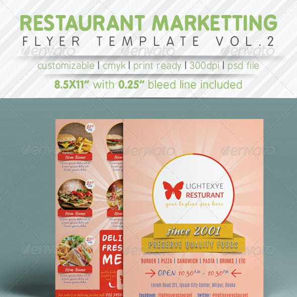 Restaurant Marketting Flyer Ads Vol.2