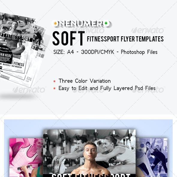 Soft Fitnessport Flyer Template