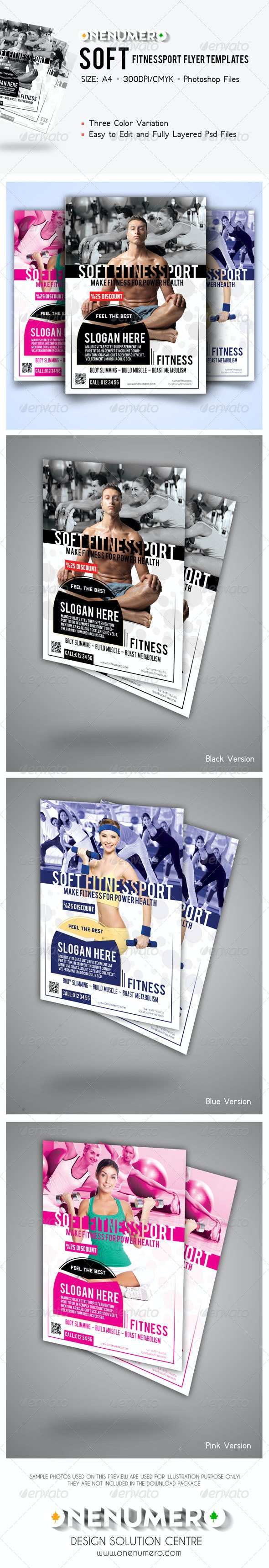 Soft Fitnessport Flyer Template - Sports Events