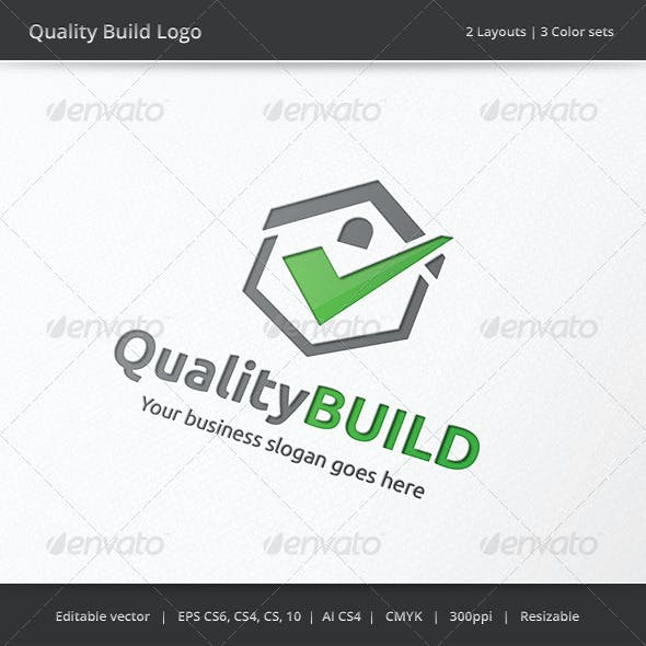 Quality Build House Logo