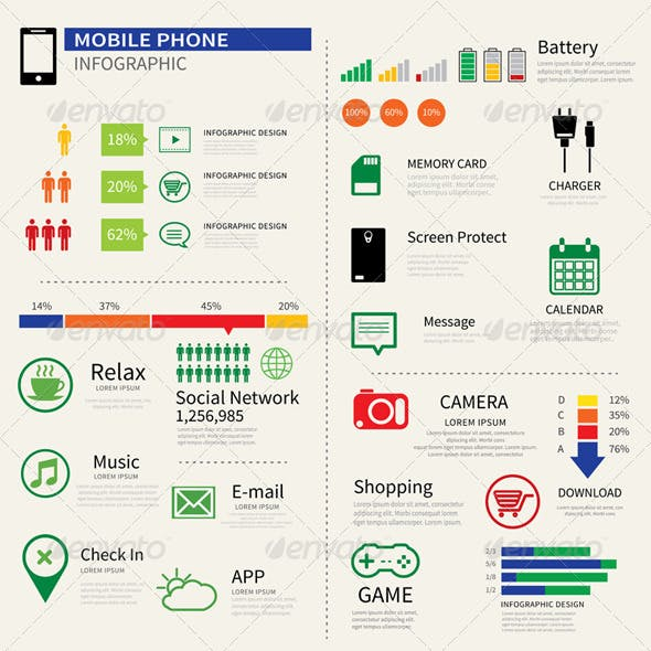 Mobile Smart Phone Infographic