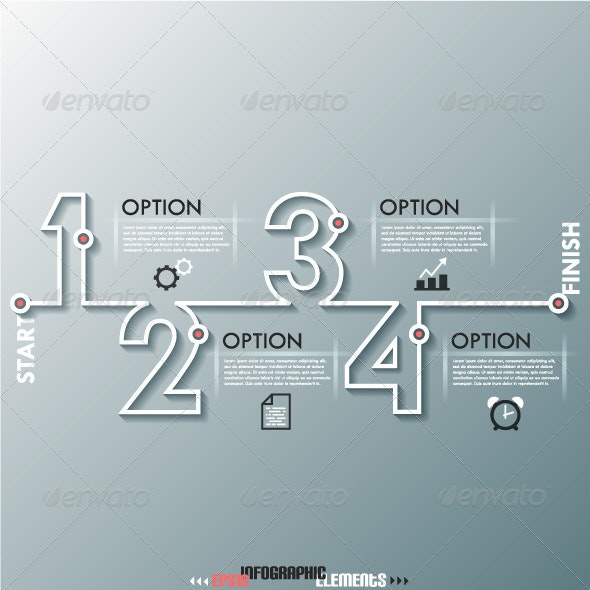 Modern Infographic Process Template With Numbers - Infographics