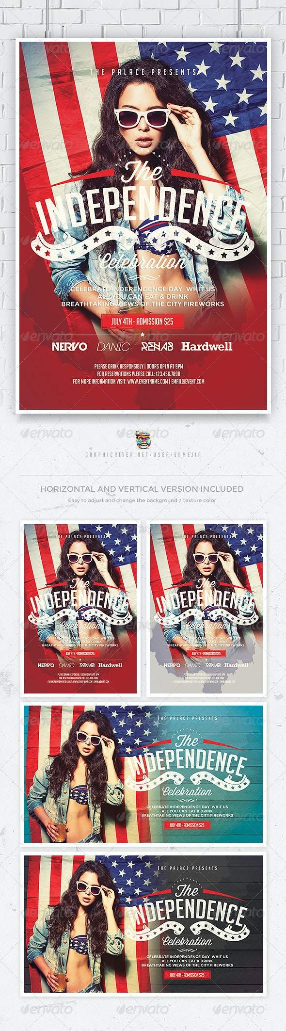 July 4th Independence Day Flyer - Events Flyers