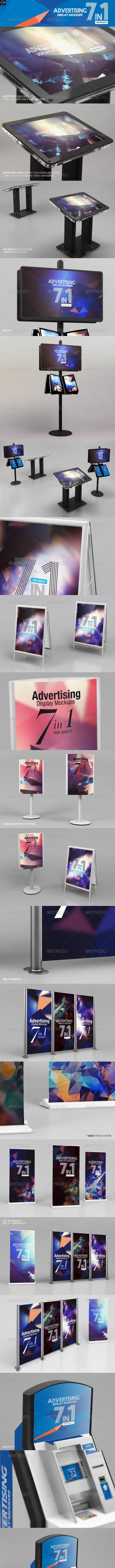 Advertising Display Mockups - Displays Product Mock-Ups