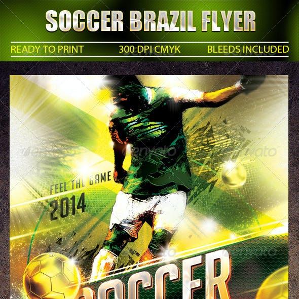 Soccer Brazil Flyer