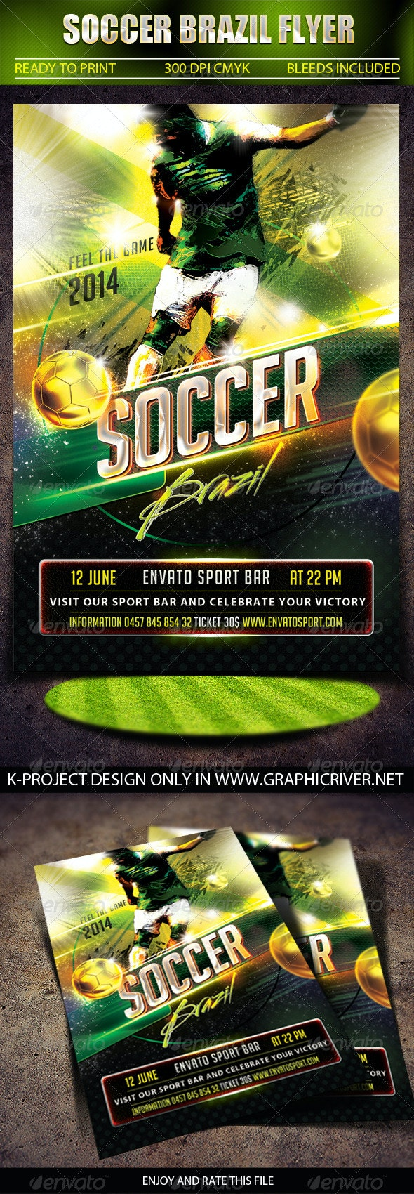 Soccer Brazil Flyer - Sports Events