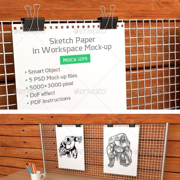 Sketch Paper in Workspace Mock-up