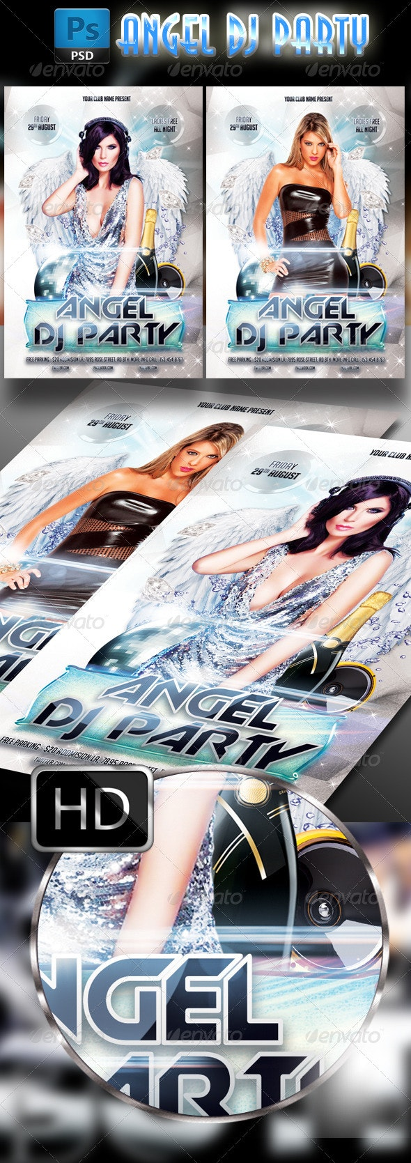 Angels Party Flyer