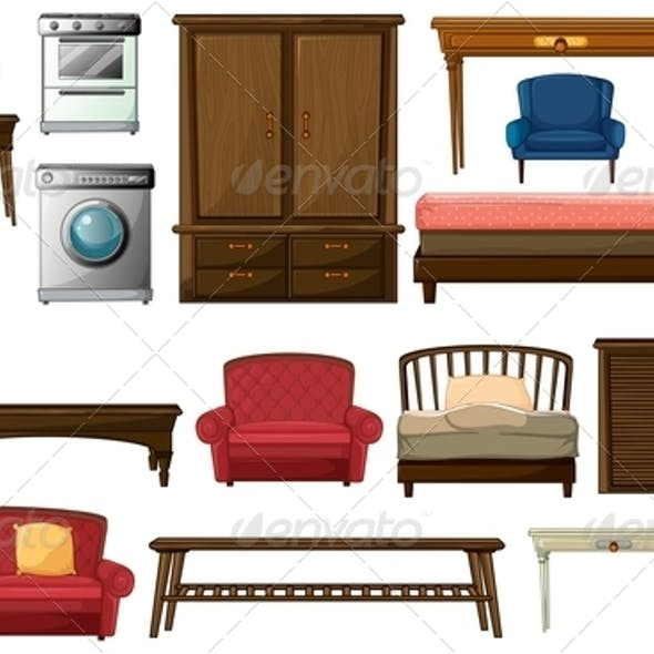 House furniture and appliances