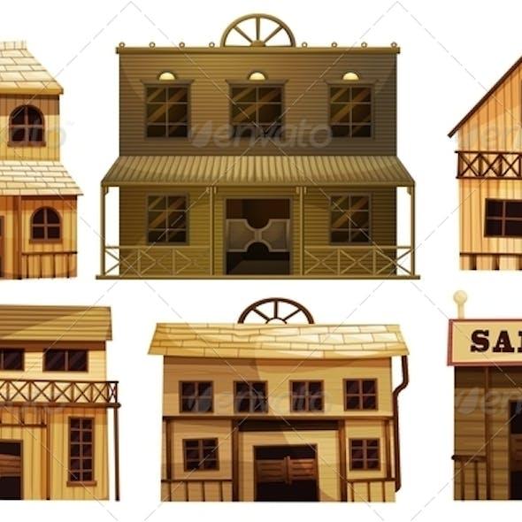 Set of Wild West Saloon Bars