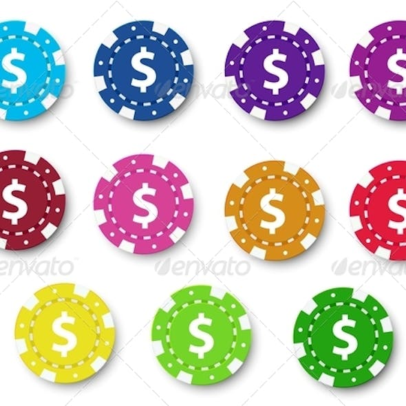 Poker chips collection