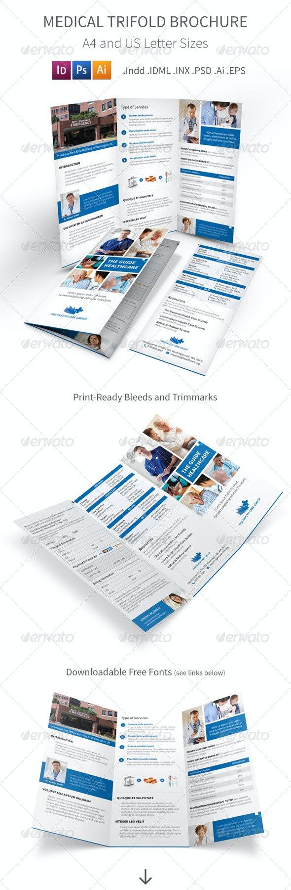 Medical Trifold Brochure - Informational Brochures