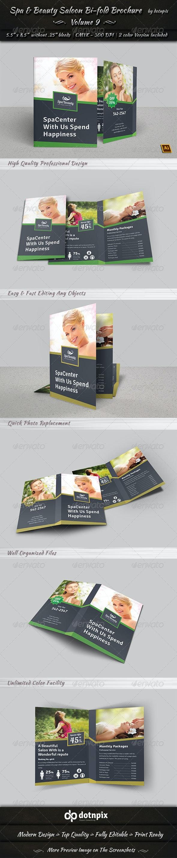 Spa & Beauty Saloon Bi-fold Brochure | Volume 9 - Corporate Brochures