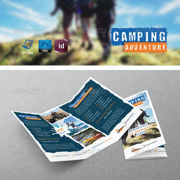 Camping Adventure Tri-Fold Templates
