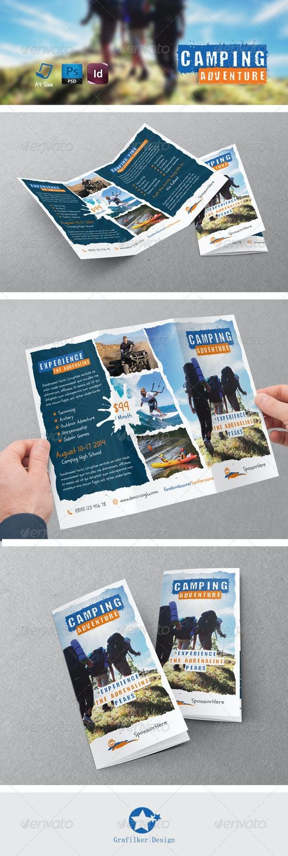 Camping Adventure Tri-Fold Templates - Brochures Print Templates