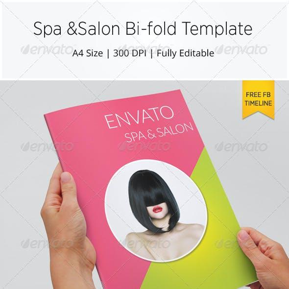 Spa & Salon Bi-fold Brochure Template