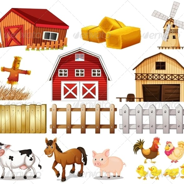Farm Animals and Buildings