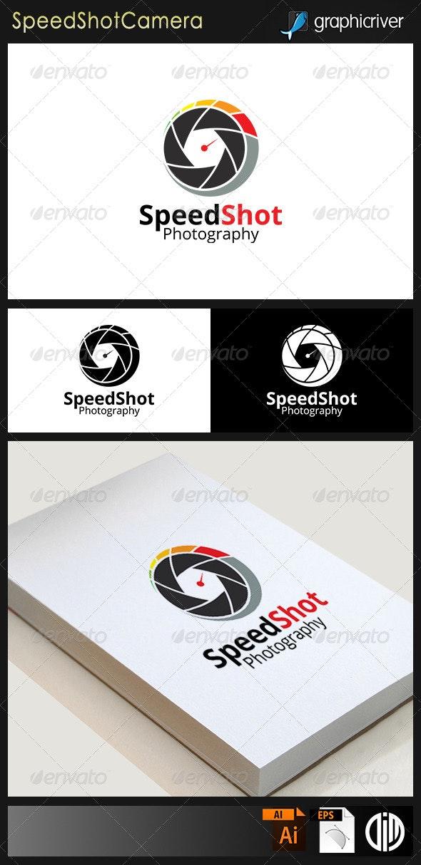 """Speed Shot"" Photographic Camera Logo"
