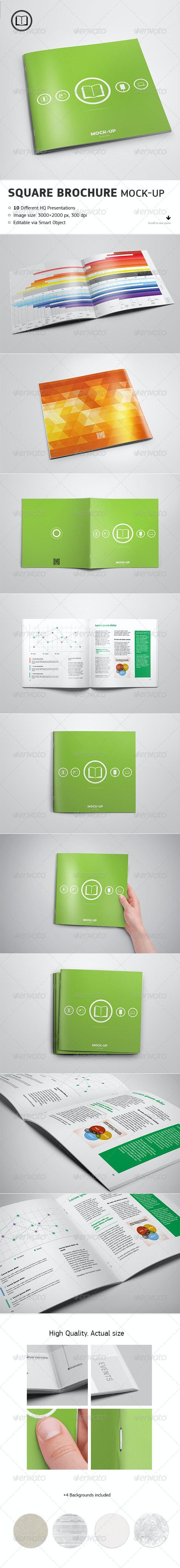 Square Brochure Mock-up - Brochures Print