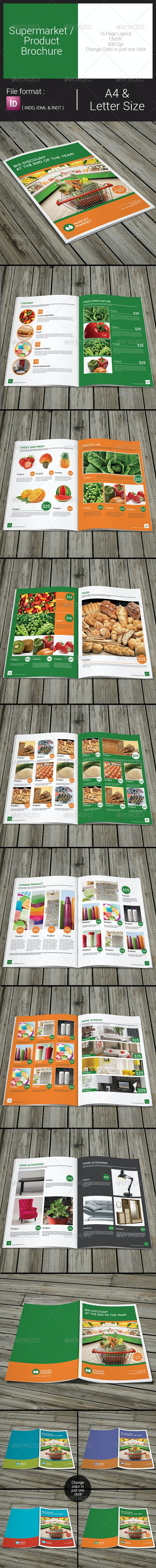 Supermarket / Product Brochure - Catalogs Brochures