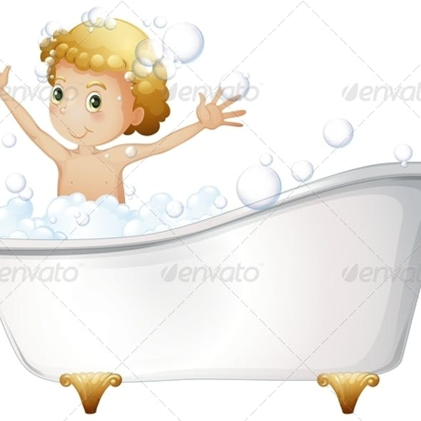 Boy in Bathtub