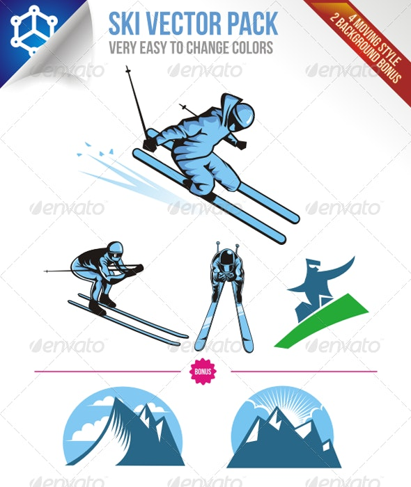 Ski Vector Pack - Sports/Activity Conceptual