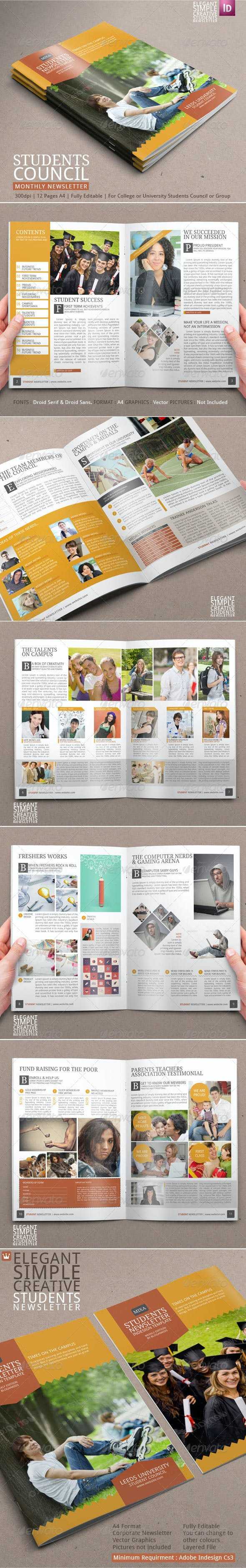 Student Newsletter Template - Newsletters Print Templates