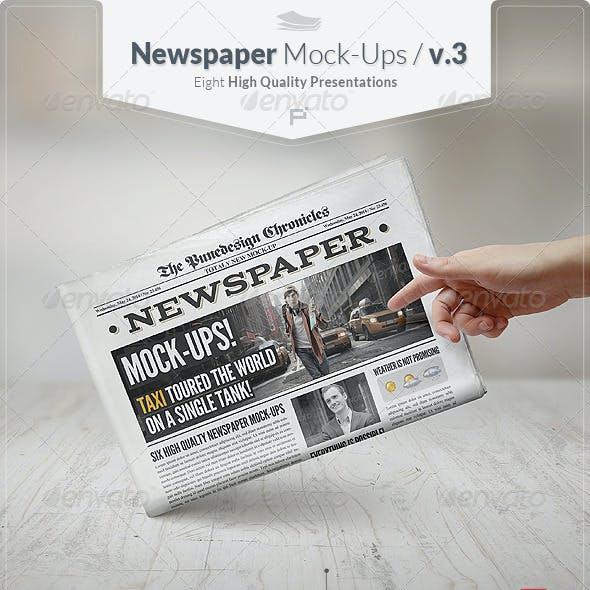 Newspaper Mock-Ups / v.3.
