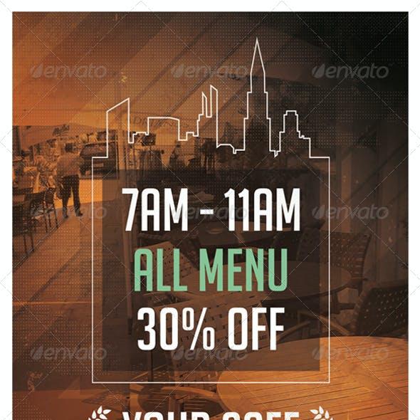 City Cafe Event Flyer