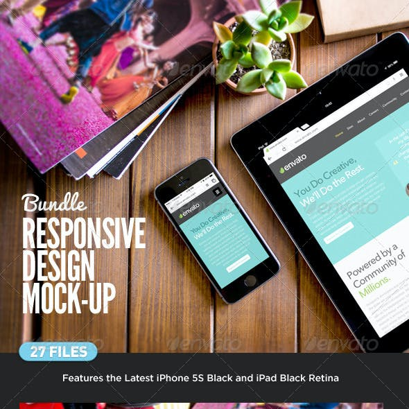 Responsive Device Screen Mock-Up Bundle