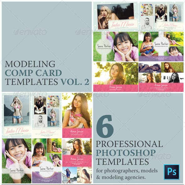 Model Comp Card Template Kit Vol. 2