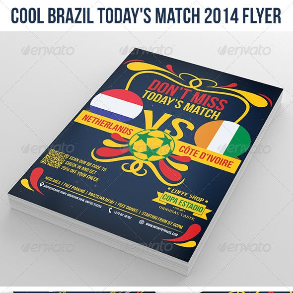 Cool Brazil Soccer Cup 2014 Flyer