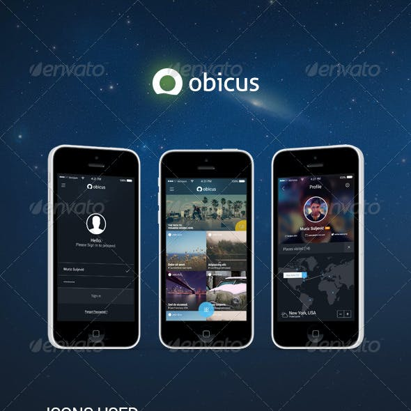 Obicus - Mobile UI Kit