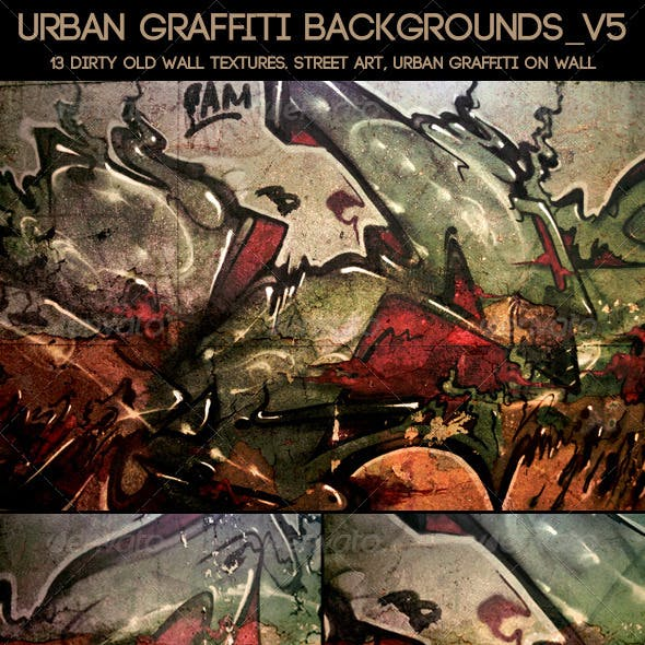 Urban Graffiti Backgrounds v5