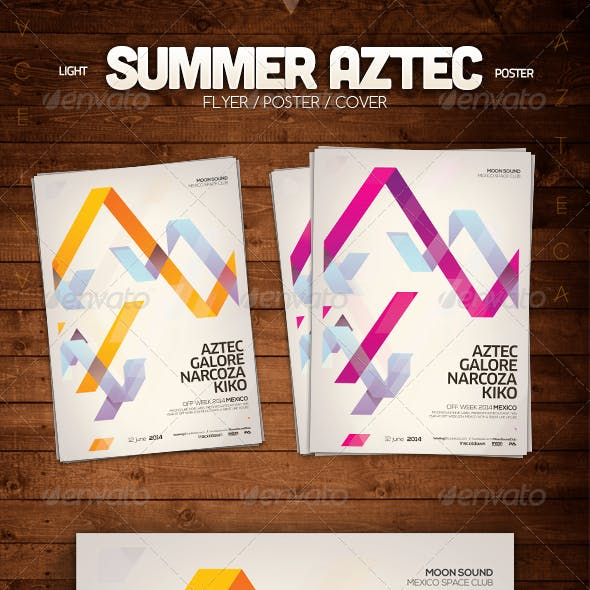 Summer Aztec Poster