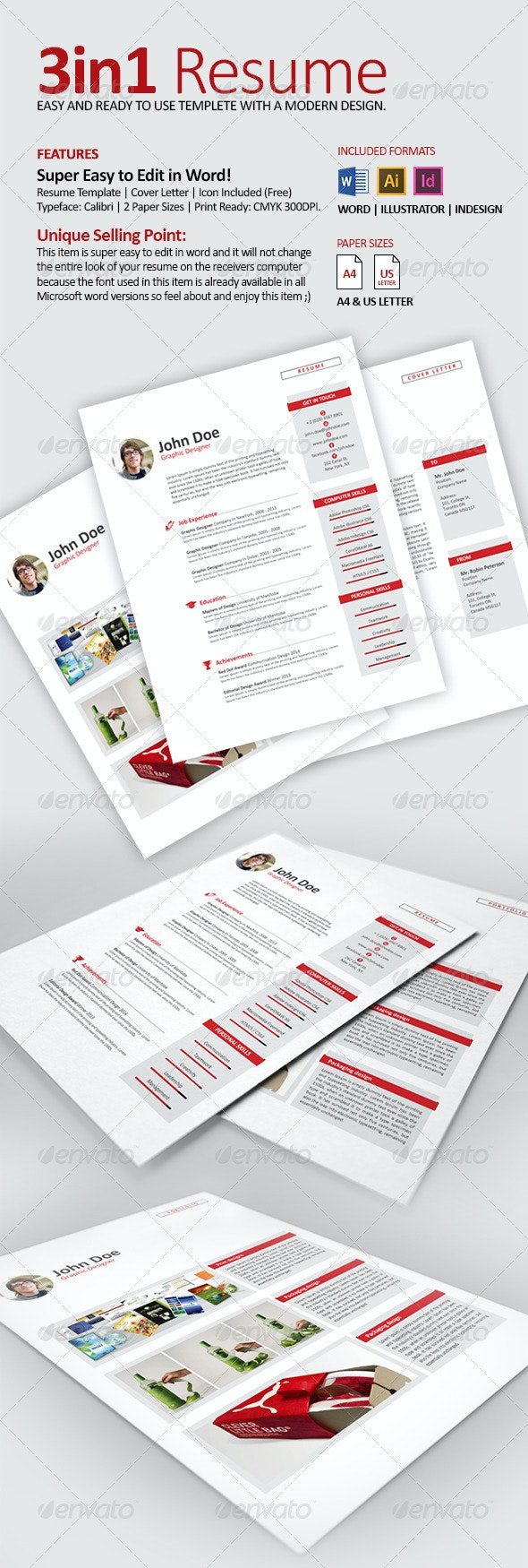 Resume CV with Word Files - Resumes Stationery