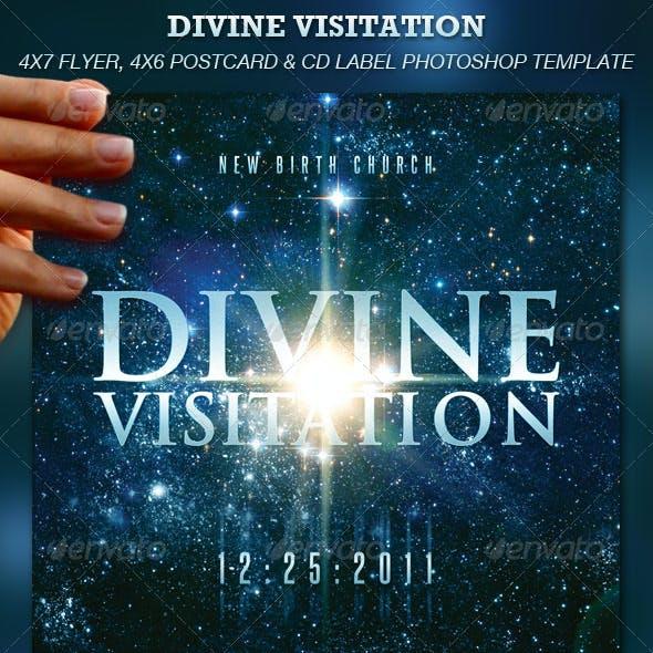 Divine Visitation Flyer, Postcard & CD Label