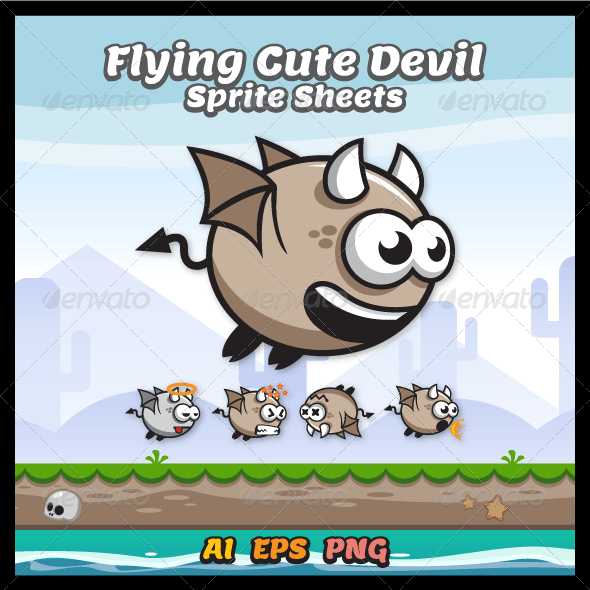Game Asset - Game Character Devil Sprite Sheets