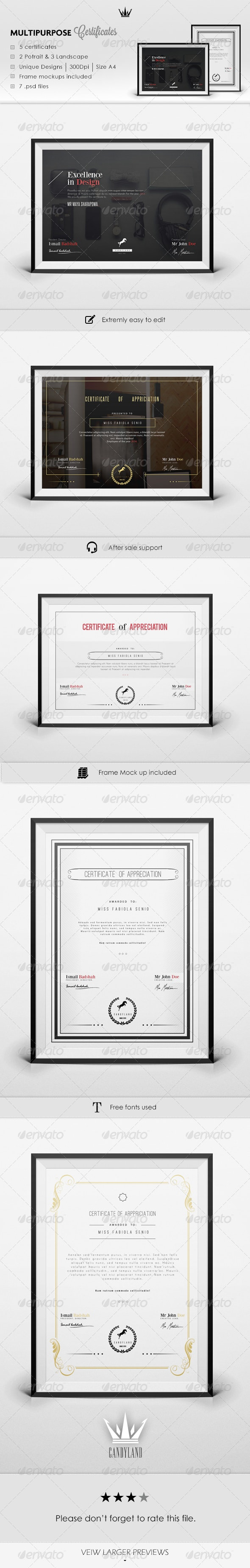 Certificate Pack 2 - Certificates Stationery