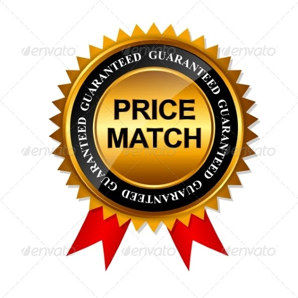 Price Match Guarantee Gold Label Sign