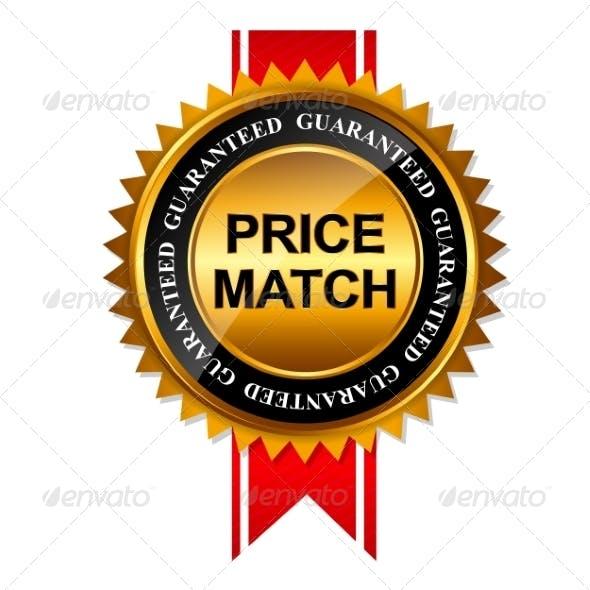 Price Match Guarantee Gold Label Sign