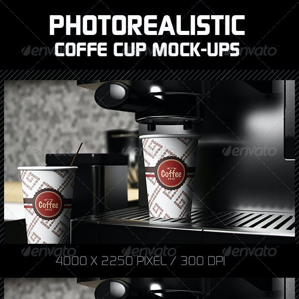 Photorealistic Coffee Cup Mock-Ups