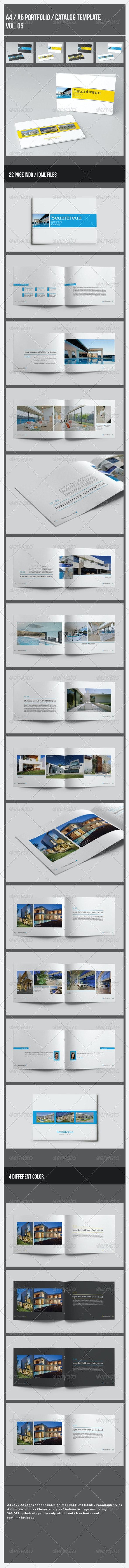 A4/A5 Portfolio / Catalog Template Vol.5 - Portfolio Brochures